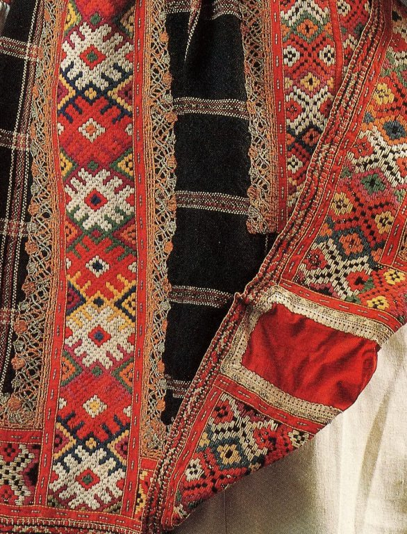 Woman's festive clothes. Detail. <br/>Second half of the 19th century