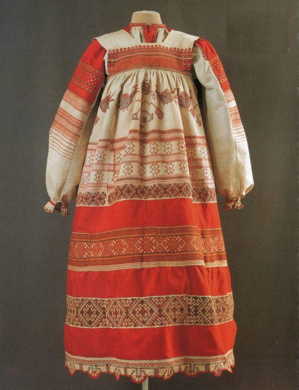 Женская праздничная одежда. <br/>Конец 19 века