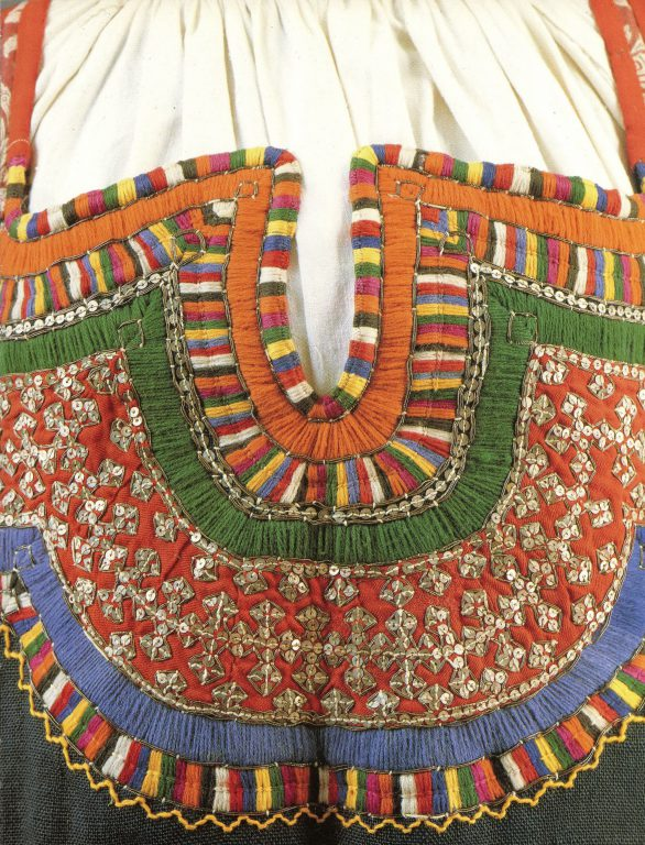Sarafan. Detail. <br/>Second half of the 19th century