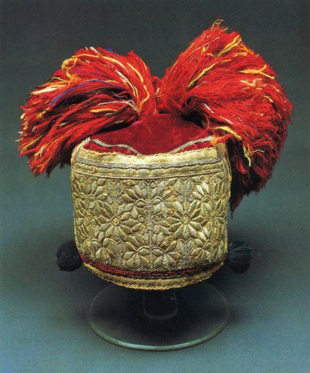 Tuft-topped soroka headdress. <br/>Second half of the 19th century
