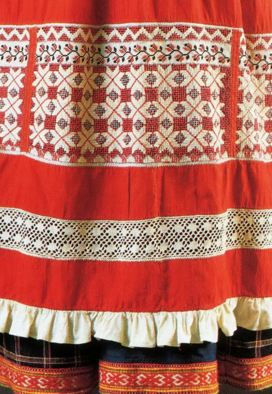 Apron. Detail. Early 20th century