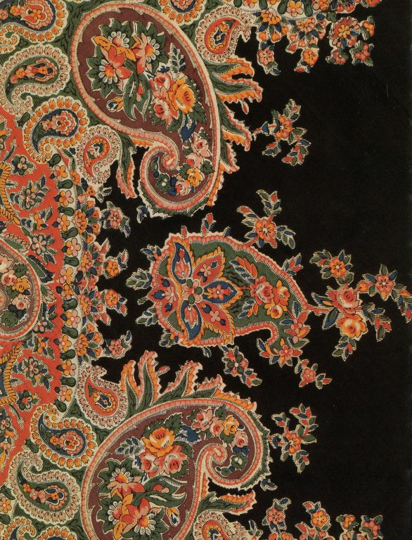 Shawl. Detail. <br/>1840s or 1850s