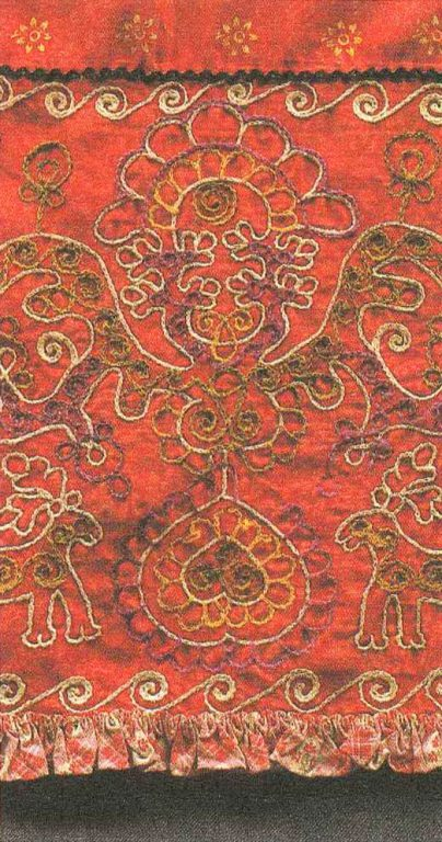 Apron. Detail. Late 19th century