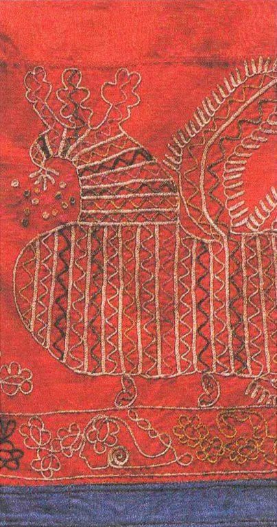 Юбка-подольница. Фрагмент. <br/>Конец 19 века