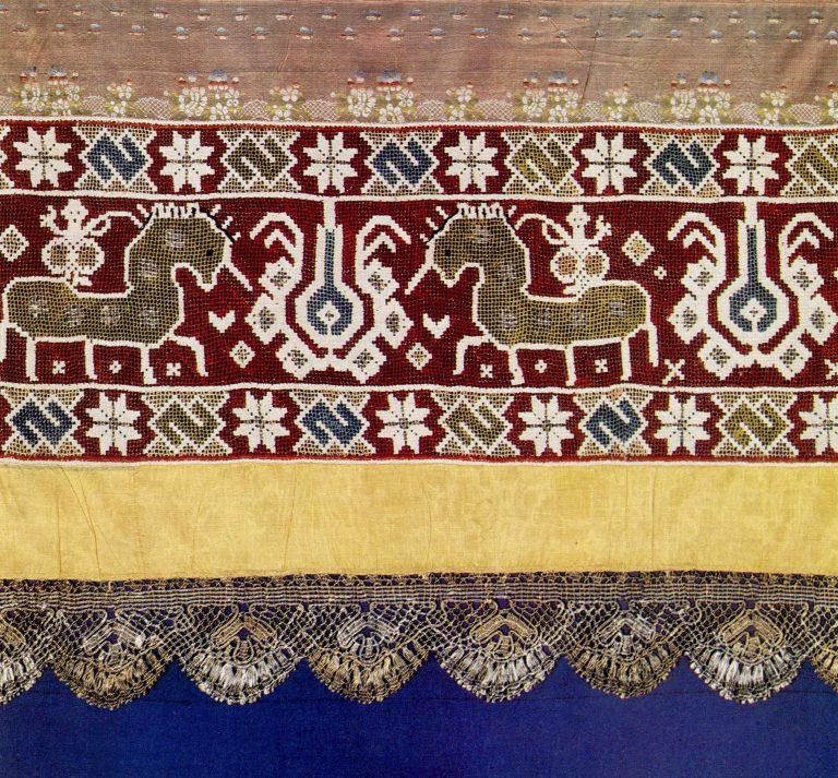 Detail of a bed valance . <br/>18th century