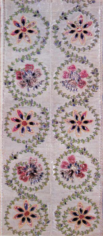 Detail of a ball-dress hem . <br/>Last quarter of the 18th century