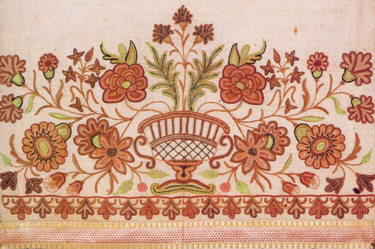Edge of a towel. <br/>Late 18th or early 19th century