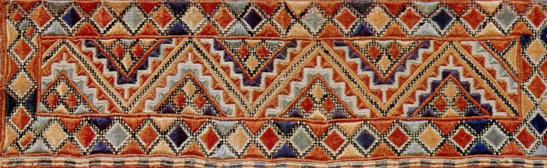 Embroidery sample. <br/>Second half of the 19th century
