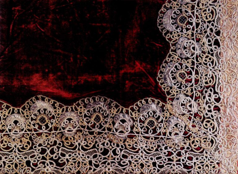 Aër fragment. Gold and silver lace. <br/>First half and mid-18th century