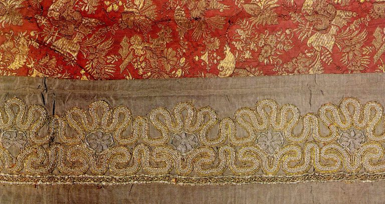 Aër fragment. Gold and silver lace. <br/>Mid-18th century