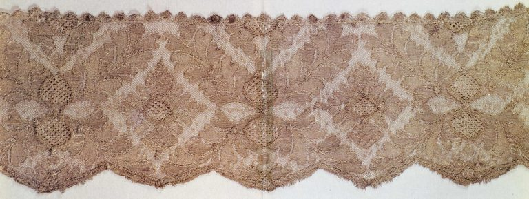 Scarf silver lace edging. <br/>Mid-18th century