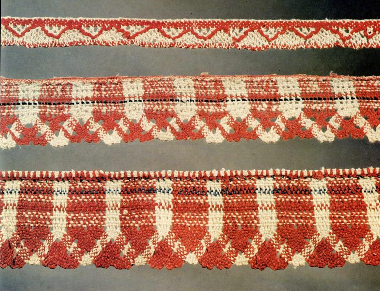 Lace edging. Thread lace. <br/>19th century