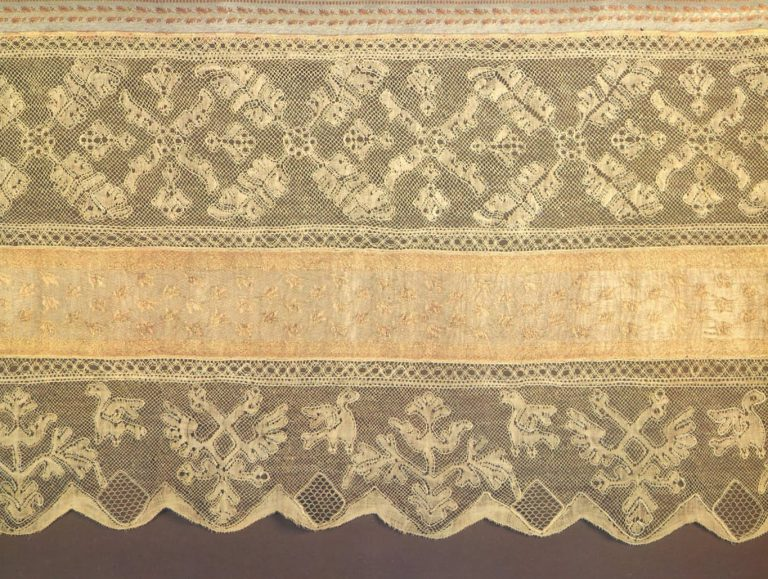 Bed valance. Detail. <br/>Late 18th century