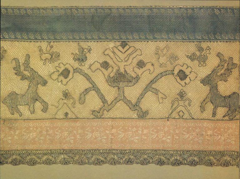 Bed valance. Detail. <br/>Second half of 18th century
