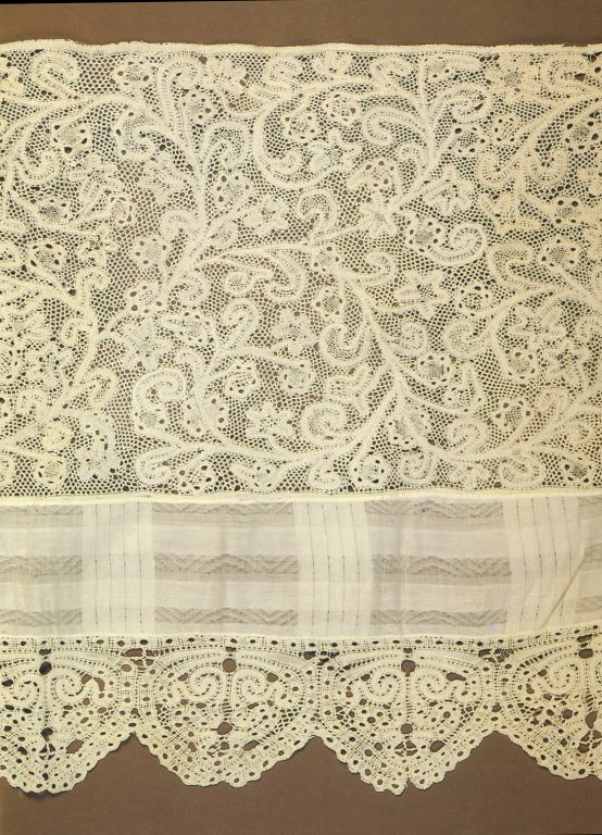 Bed valance. Detail . <br/>Early 19th century