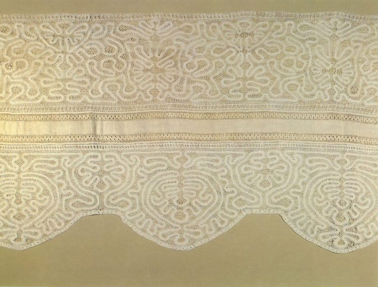 Bed valance. Detail . <br/>Late 18th century