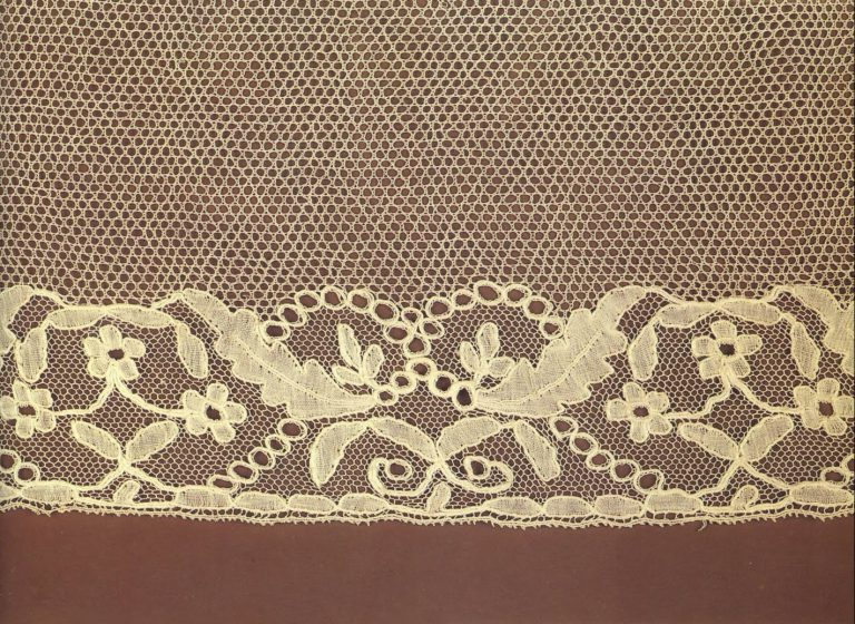 Cuff edging. Detail . <br/>1840