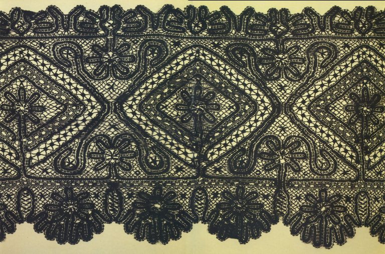 Scarf. Detail. 1880 year