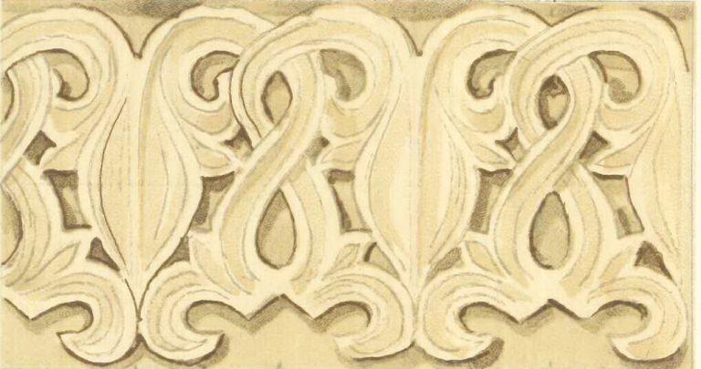 Каменная резьба церкви Саввинского монастыря. <br/>Конец 14 - начало 15 веков