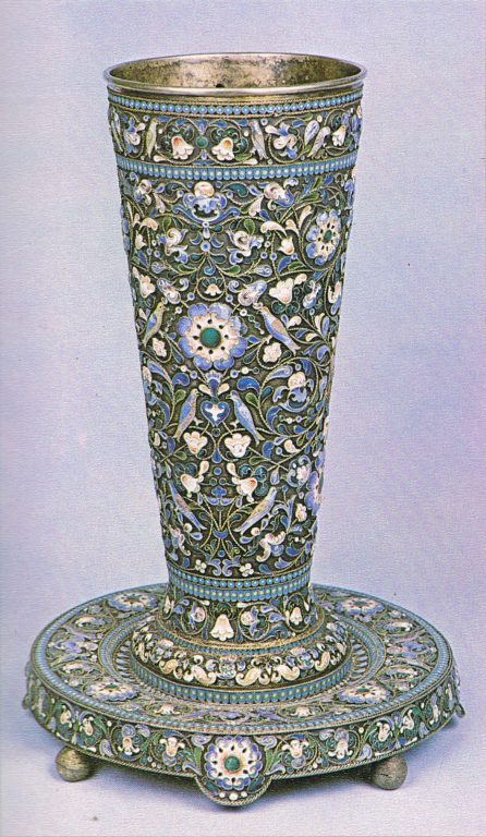 Decorative goblet. 1887 year
