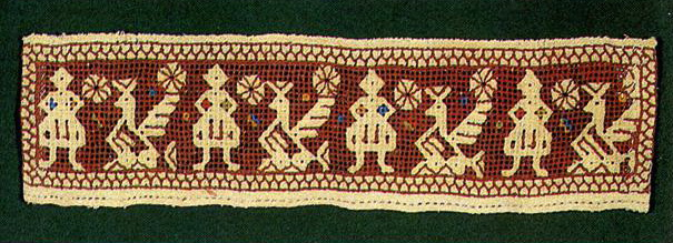 Peacocks  on towel insertion (Kaluga). <br/>Late 19th century