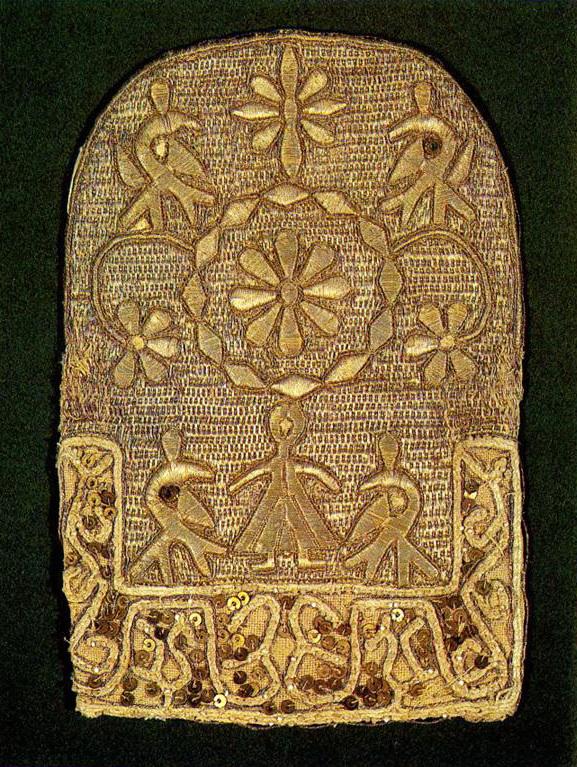 Часть костромского женского головного убора. <br/>Вторая половина 18 века