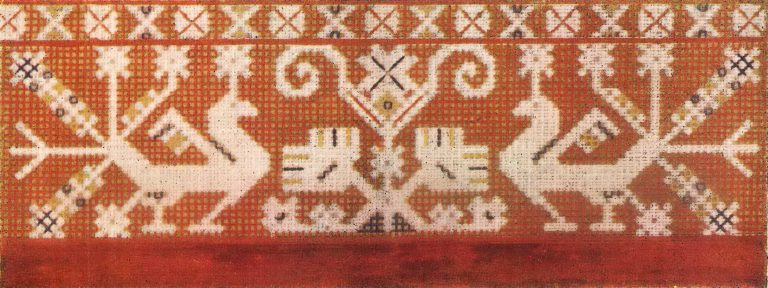 Kumach (red calico). 19th century