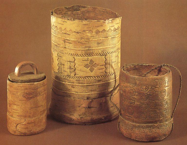Традиционные удмуртские туеса (бураки). <br/>Конец 19 - начало 20 века