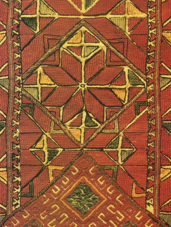 Embroidered chemisette kabachi. Detail