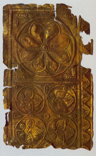 Riza for a big icon. Fragment. <br/>Second half of the 12th century