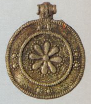 Pendant with the image of an eight-petal rosette. <br/>Еarly 13th century