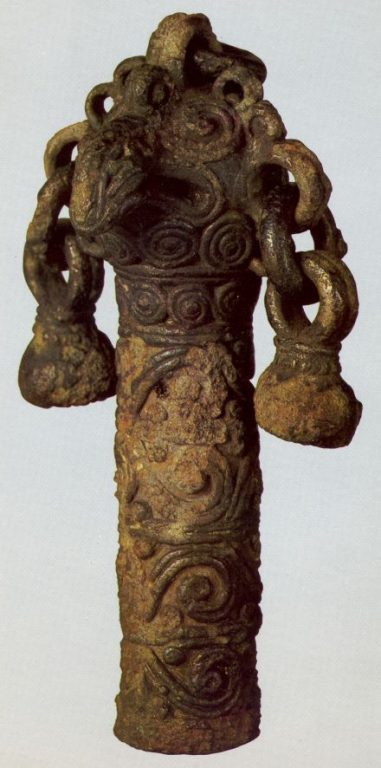 Hilt finial in the shape of an eagle's head. 12th century