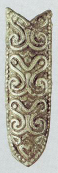Belt tip decorated with floral pattern. <br/>1st half of the 12th century