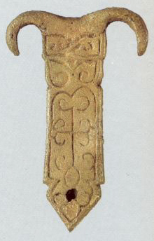 Belt tip . <br/>12th century
