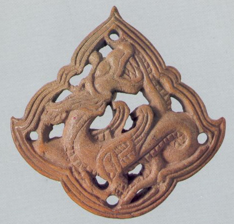 Plaque with an image of dragon. Еarly 14th century
