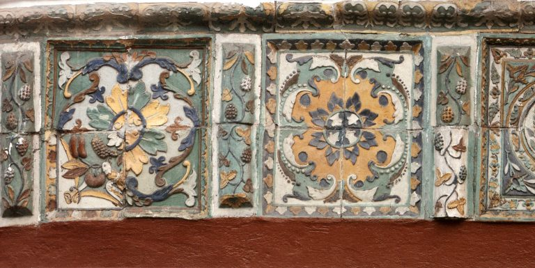 Tile decorations of a refectory church of the Dormition of the Mother of God. <br/>1702 year