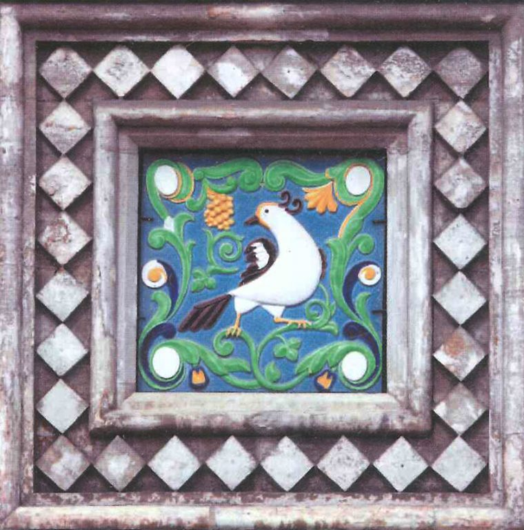 Tile decorations of the Church of the Savior on Spilled Blood