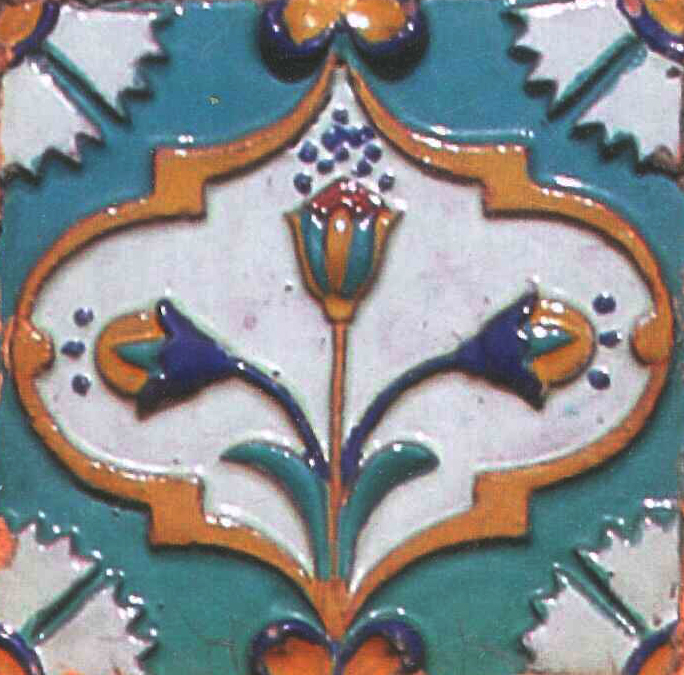 Tile in the Peter and Paul Cathedral. 1900-ies years