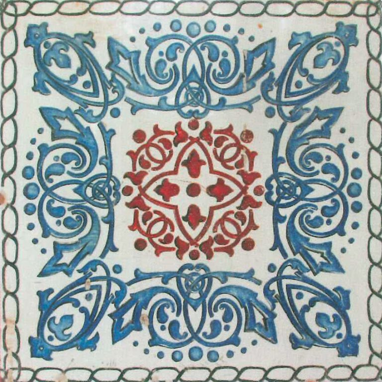 Tile of A. Gusarev plant. <br/>Early 20th century