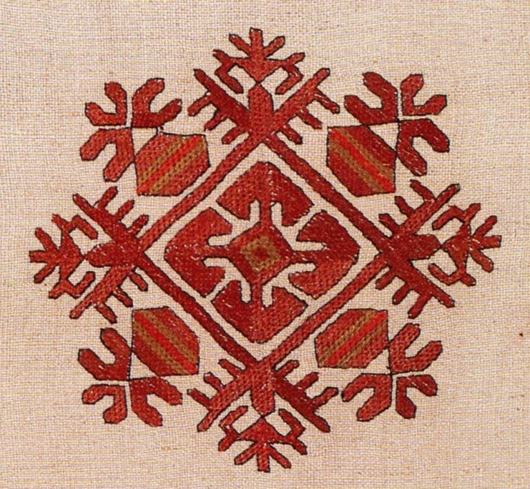 Нагрудная вышивка кéскé. <br/>19 век