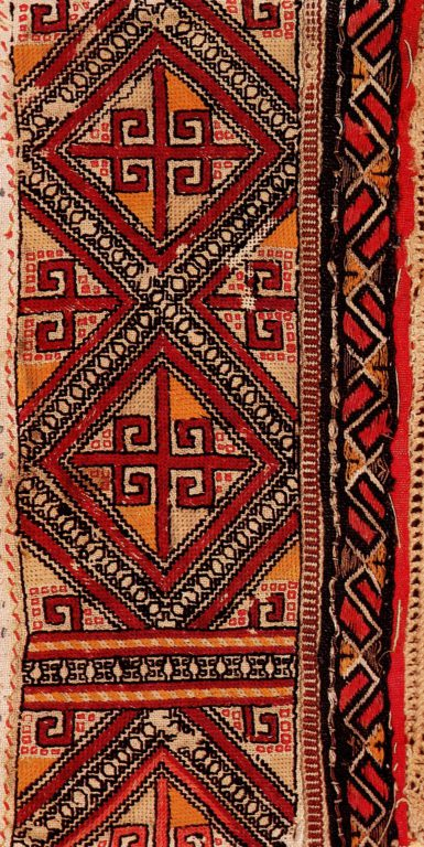 Ornament of the embroidery of the mid-lower Chuvash . <br/>19th century