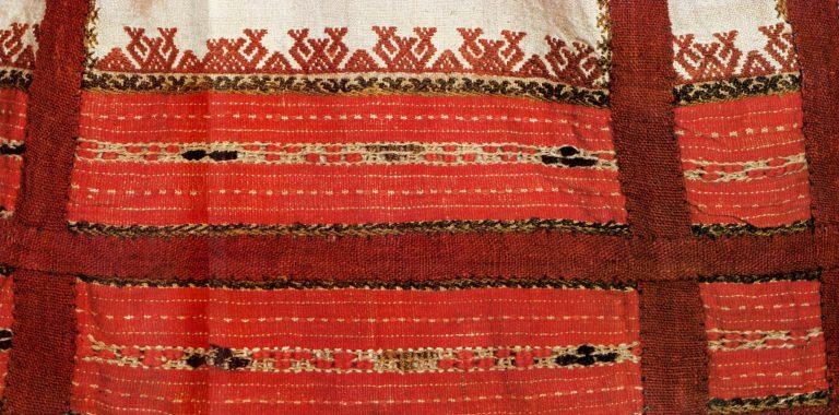 Подол женской рубашки промежуточных чувашей. <br/>18 век