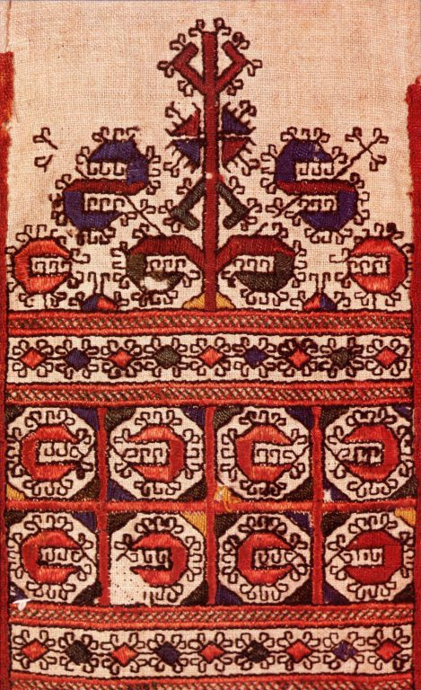 Набедренное украшение яркӑч низовых чувашей. Фрагмент. 18 век