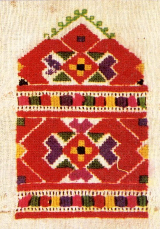 Sample of women's belt decoration of the lower Chuvash. <br/>Early 20th century