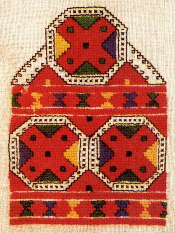 Заготовка к поясному украшению сарӑ низовых чувашей. <br/>Начало 20 века