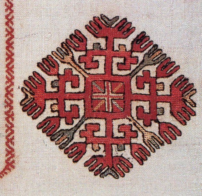 Pectoral embroidery (кéскé)
