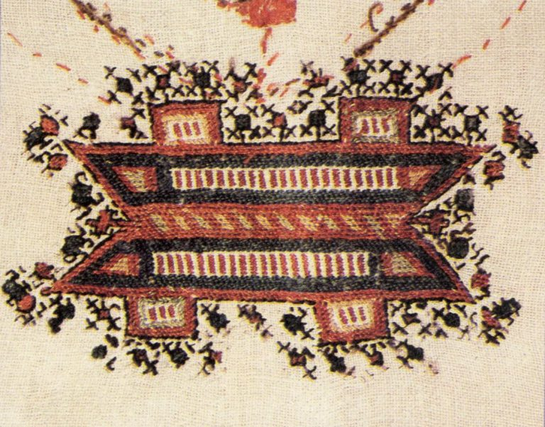 Узоры-наплечники мужского халата шупӑр. <br/>18 век