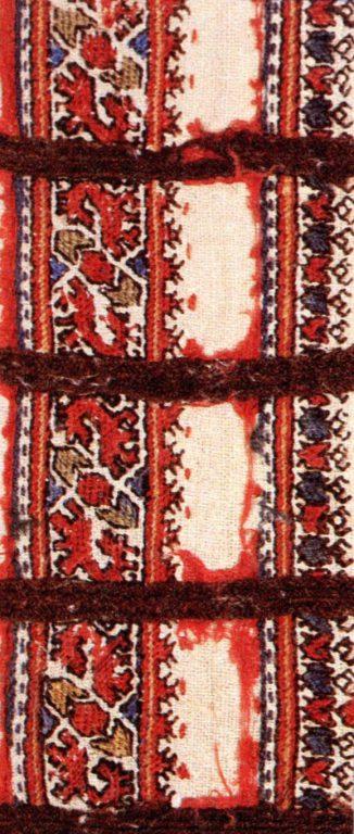 Нагрудный узор мужского халата шупӑр. Фрагмент. <br/>18 век