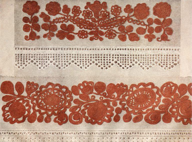 Подол женской рубахи. Середина 19 века