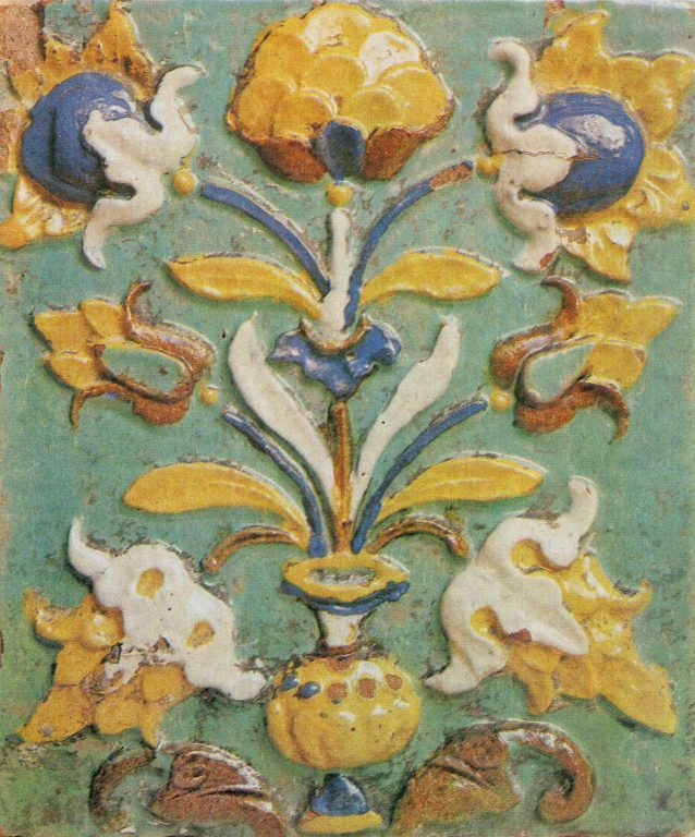 Tile from the Church of John the Baptist. 17th century